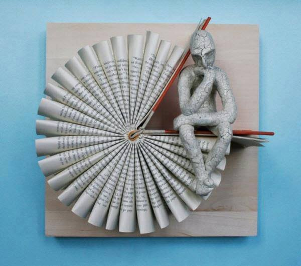 Thinker Series Book Sculptures by Daniel Lai from Malaysia