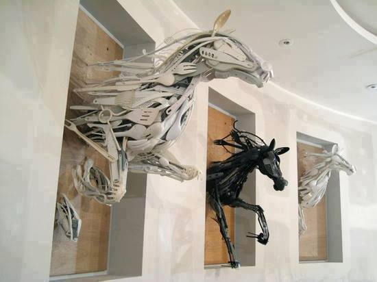 Recycled art by Sayaka Ganz