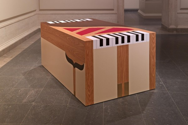 Richard Artschwager, Piano-Piano, 1963-65-2011, laminate on wood