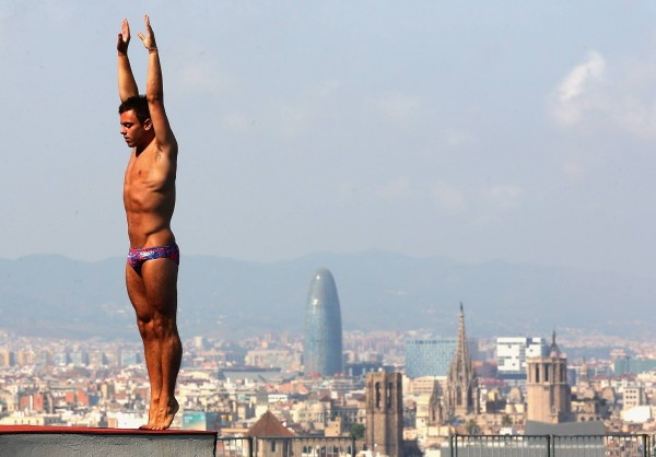 Tom Daley in Barcelona practising