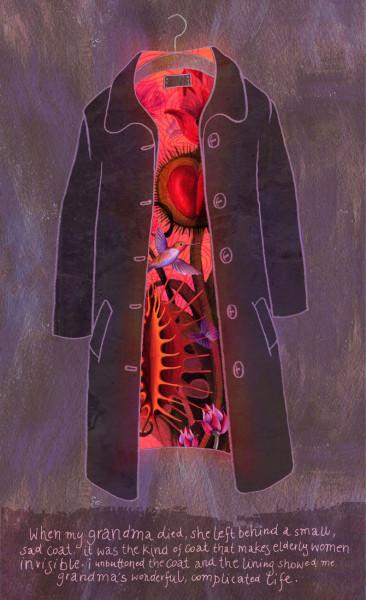 Grandmother-s coat heller klein, Alice Wellinger