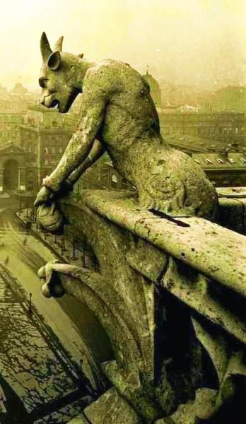4 gargoyle at Notre Dame