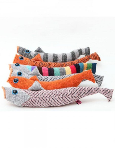 knitted fish by Kate Jenkins