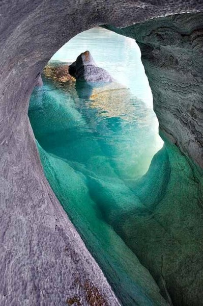 Marble Caverns of Lago Carrera, Patagonia, Chile