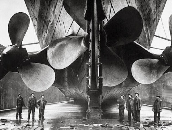 propellors of Titanic 1911