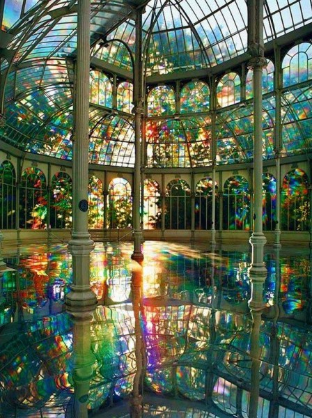 Room of Rainbows in Crystal Palace Buen Retiro Park, Madrid