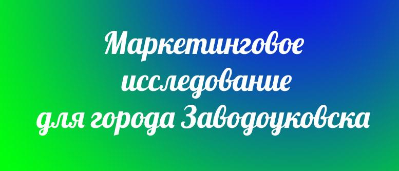 Маркетинговое исследование для Заводоуковска