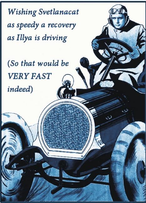 Illya driving to Svet