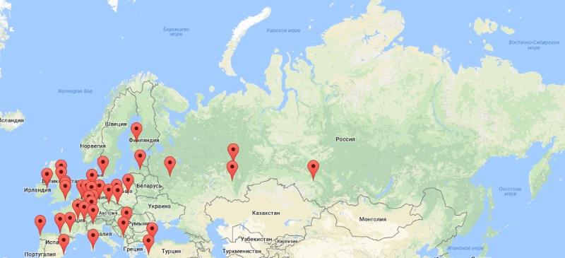 Мероприятия по городам в День космонавтики-2018