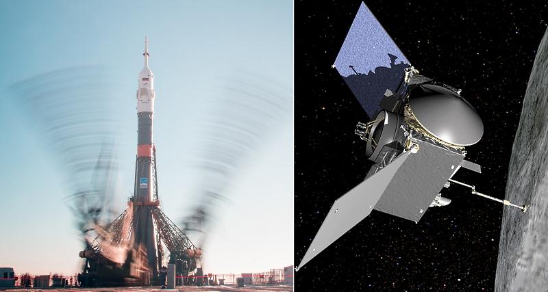 Старт к МКС и торможение у астероида