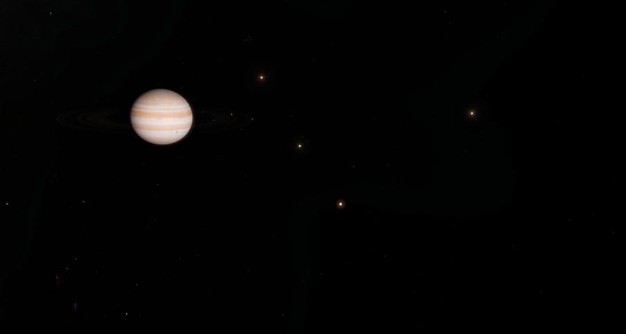 Юпитер и его спутники, фотография из блога Филиппа https://lozga.livejournal.com/