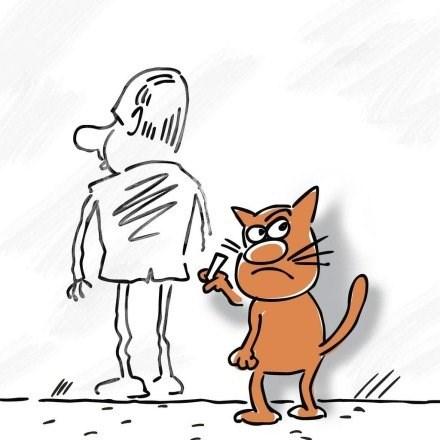 кот рисует Путина