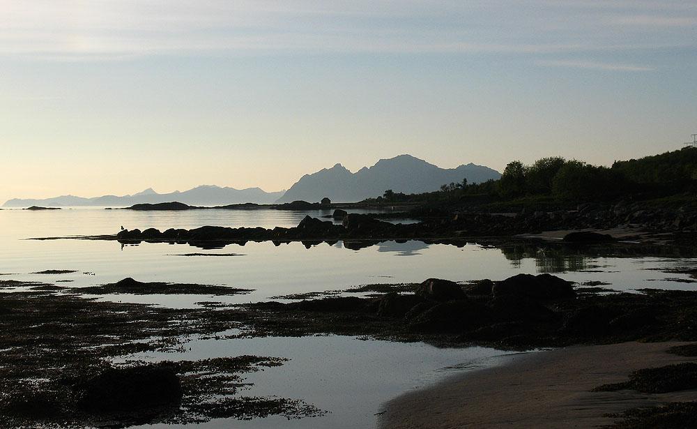 пляж в заливе Morfjorden
