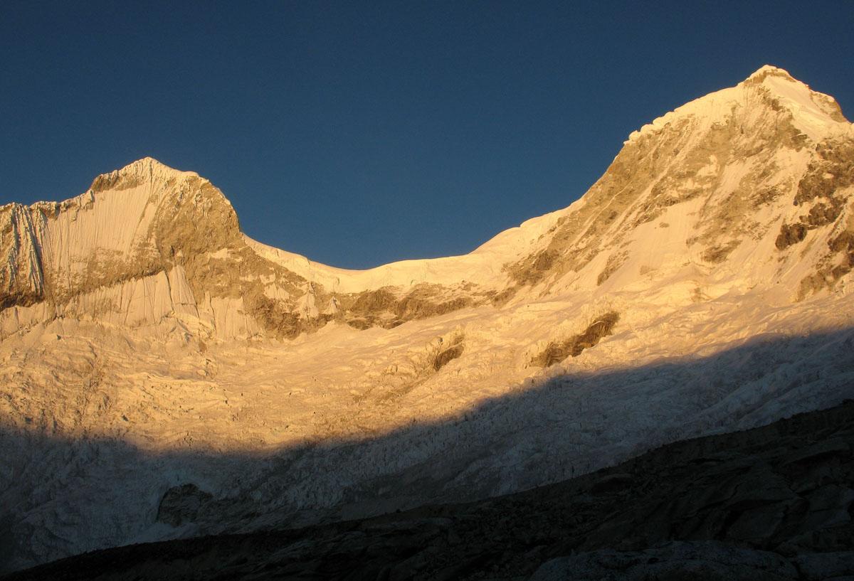 Перу, Cordillera Blanca, массив Уандой Huandoy,