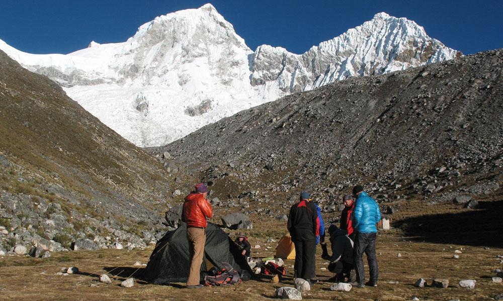 Перу, Cordillera Blanca, восхождение на Pisco. В базовом лагере Писко