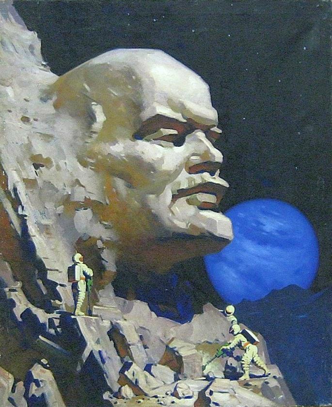 В. А. Ховаев. Ленин на Луне. 1960