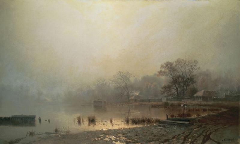 Каменев Лев Львович - Туман. Красный пруд в Москве осенью. 1871