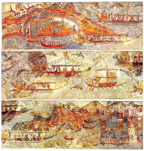 корабли-фреска-флотилия-Minoan_MiniatureThree_Panels