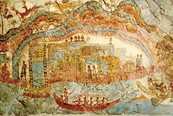 корабли-фреска-Akrotiri-minoan-town