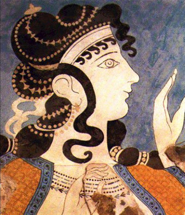 фреска-женщ.-минойская