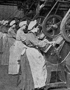 Женский труд на фабриках