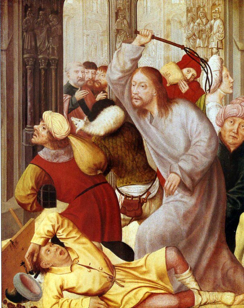 Христос изгоняет торговцев из храма