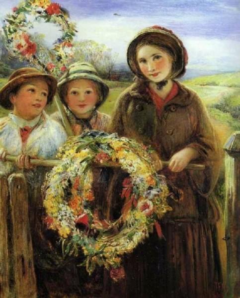Thomas Falcon Marshall (1818-1878) -May Day Garlands - 1860