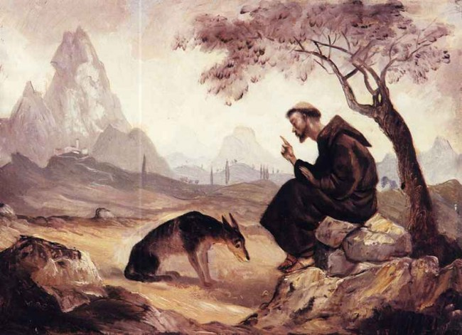 Франциск Ассизский и волк