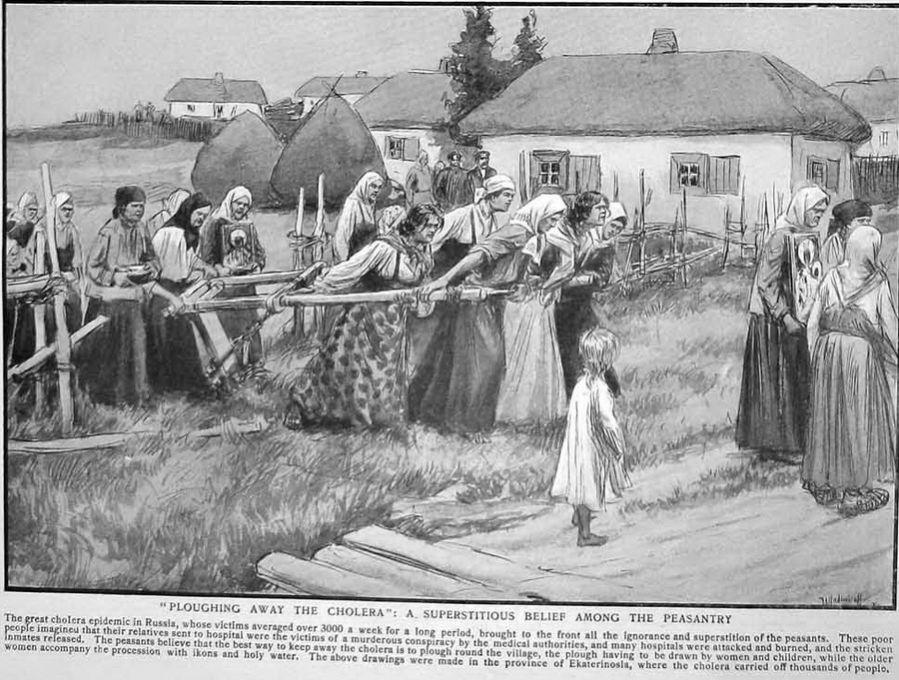 Опахивание деревни от холеры