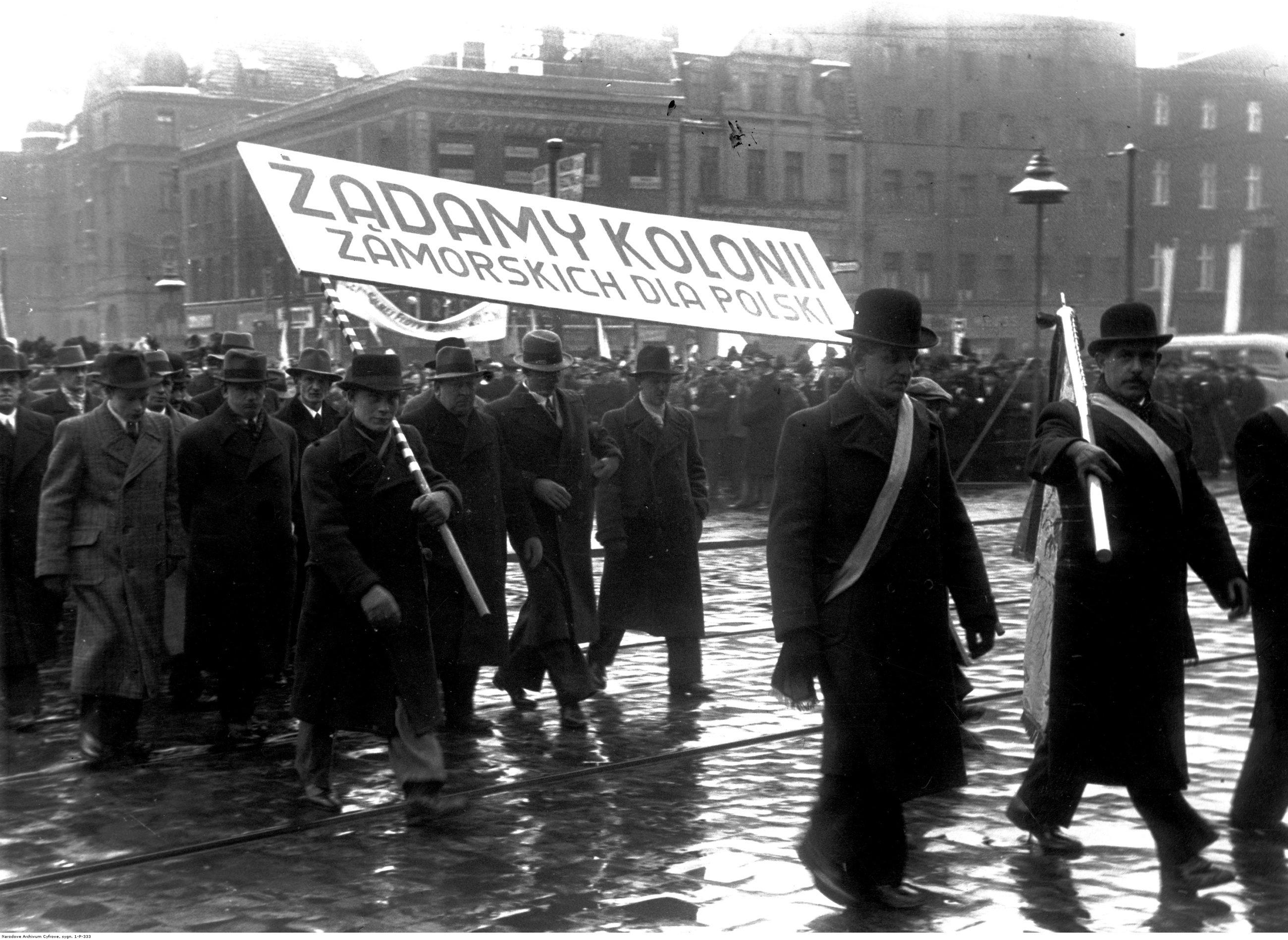 Демонстрация с требованием колоний для Польши