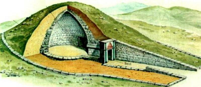 гробница в разрезе