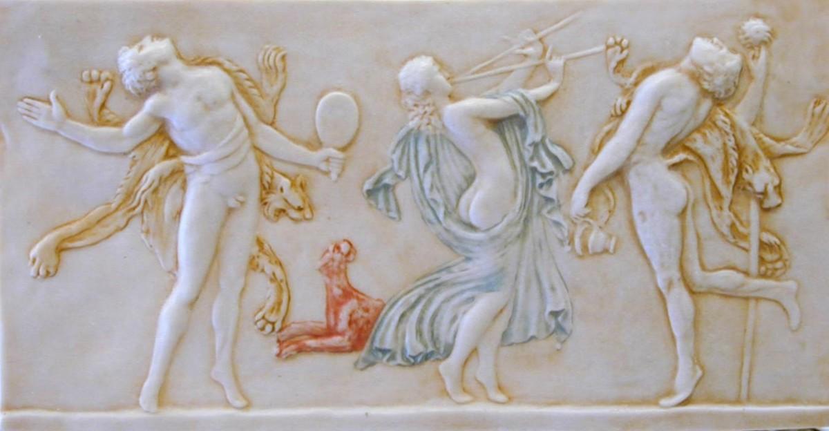 Танцующие фавны и вакханки. Греческий фриз.