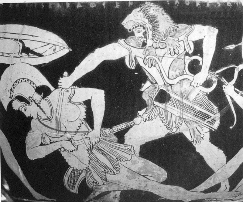 Геракл и амазонка, Античная керамика.