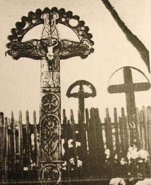 Традиционные словацкие надгробные кресты (по данным Н.Н. Велецкой)