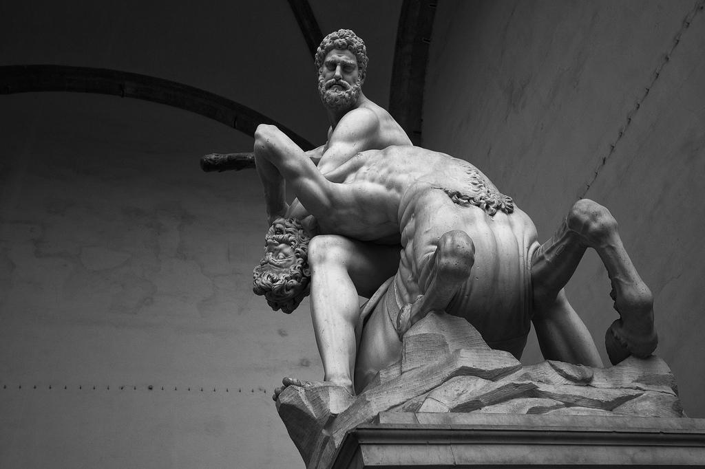 Giambologna Hercules beating the Centaur Nessus, 1599- (5)