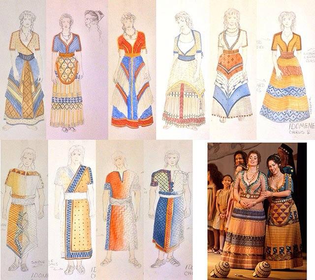 реконструкция минойской (микенской) одежды
