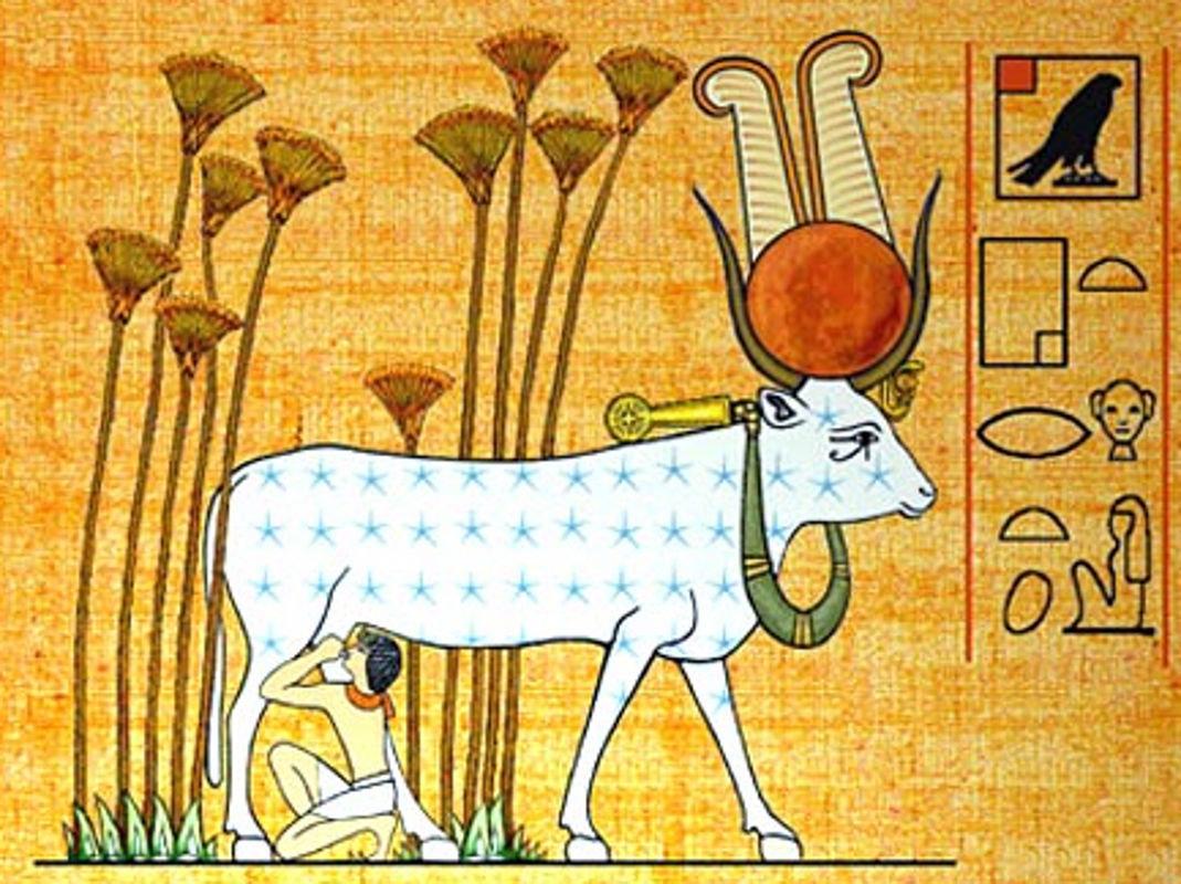 Богиня Нут в образе Небесной Коровы