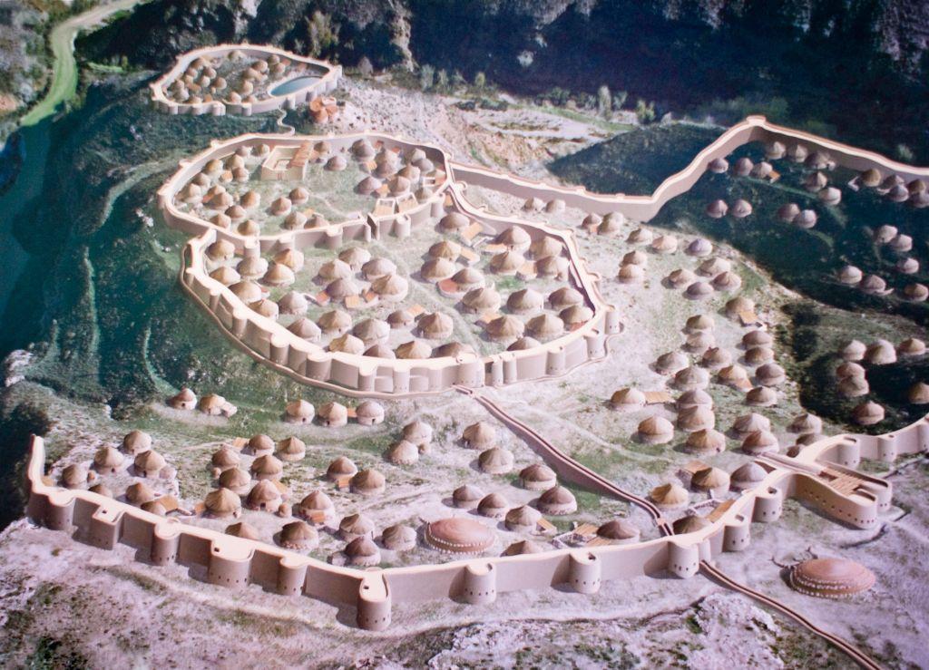 Модель доисторического протогорода Лос-Мильярес