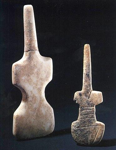 Кикладские идолы скрипичные