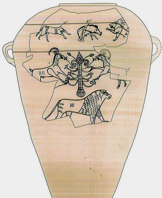 Пифос А, прорисовка второй стороны