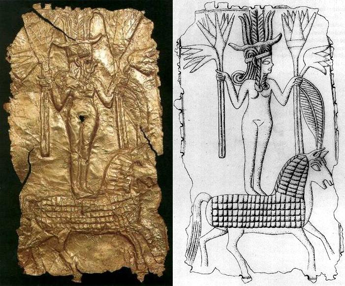 Ханаанский вариант богини Иштар верхом на лошади, XIII в. до н.э