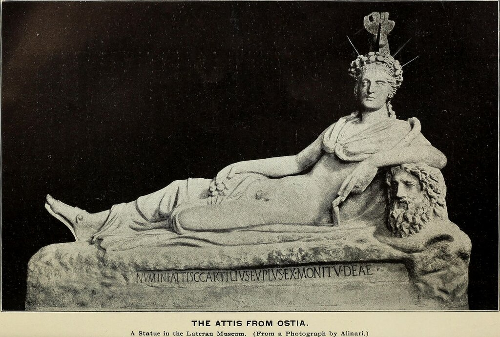 Ancient Roman statue of god Attis found at Ostia, now in the Lateran Museum.