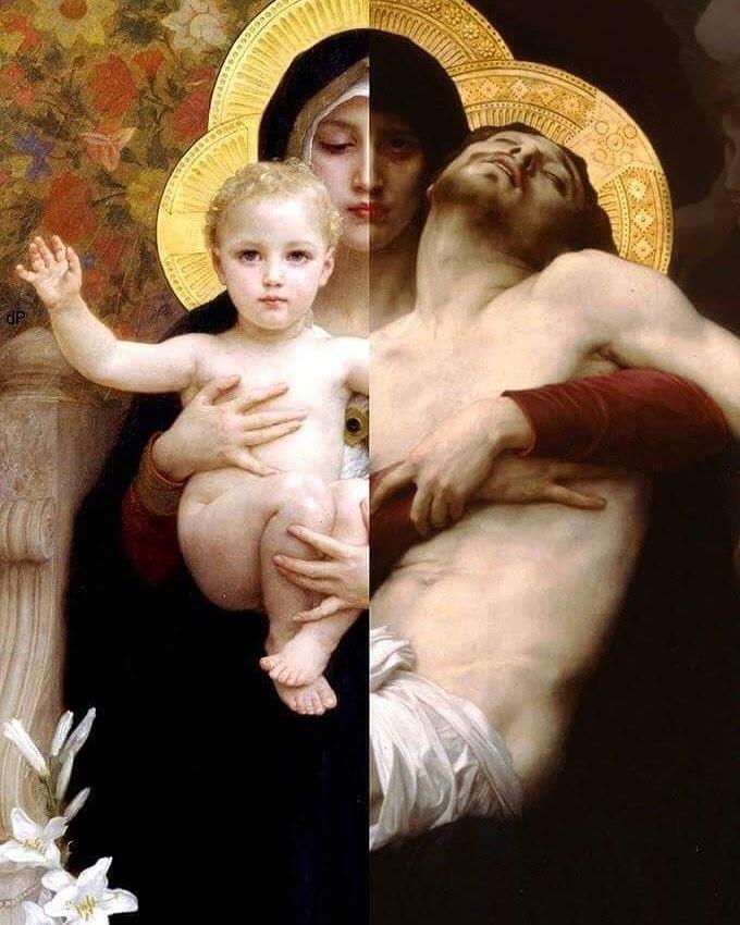 Madonna of Lilies (1899) and Pieta (1876)