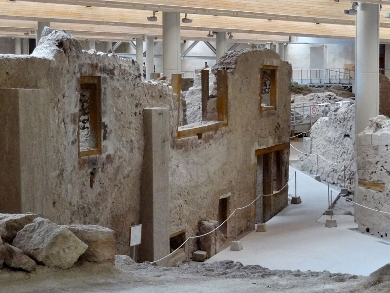Akrotiri_Ausgrabungsstätte