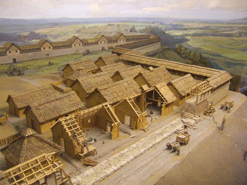 гальштатские селения (реконструкция)