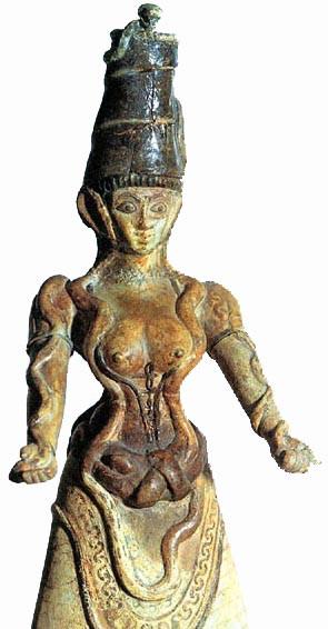 Крито Микенская богиня со змеями