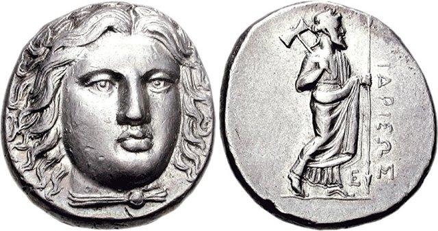 Карийская монета, 351-344 гг. до н.э.