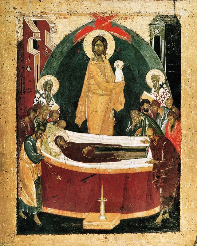 Икона Успение Богородицы Феофана Грека