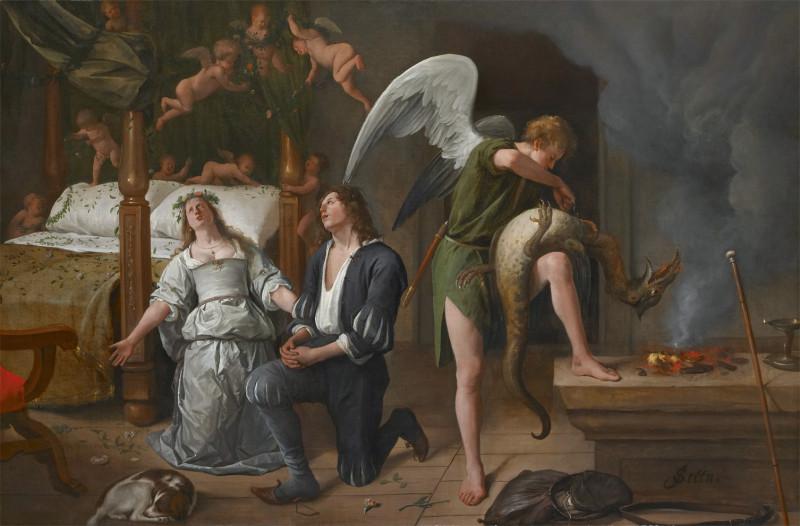 Ян Стен, Брак Товии и Сары, 1660.