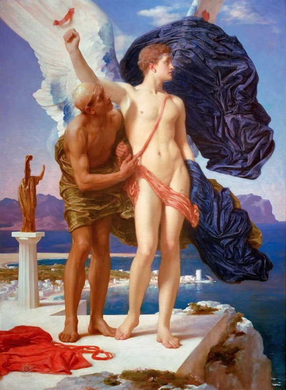 Lord Frederic Leighton Daedalus and Icarus c.1869